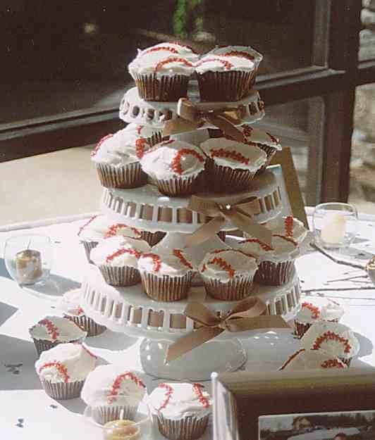Baseball Grooms Cake Cupcakes