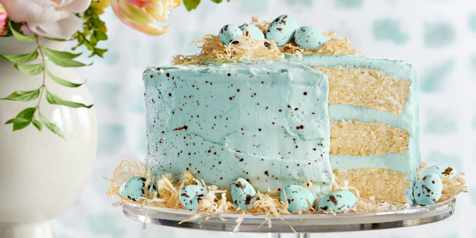 Beautiful Coconut Easter Cake