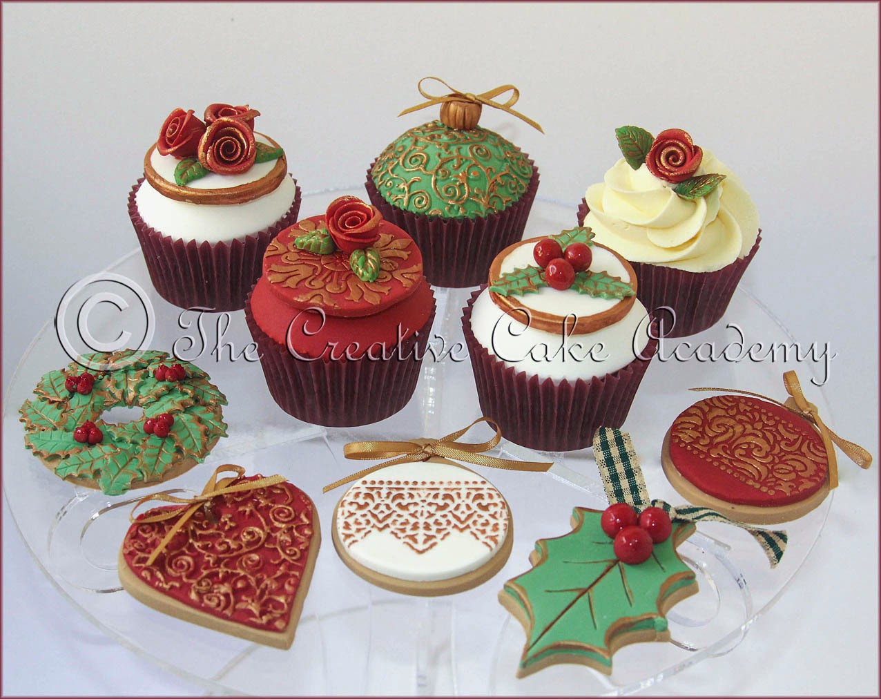 8 Christmas Cupcakes And Cakes And Cookies Photo Rudolph The Red