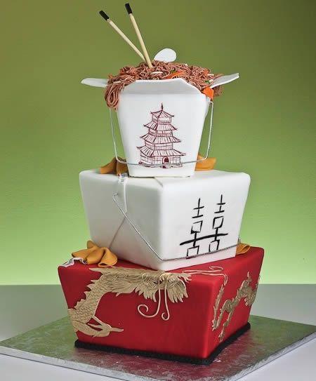 Chinese Food Wedding Cake