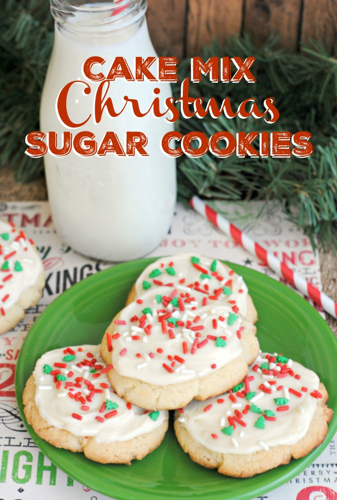 Christmas Cookies Recipes with Cake Mix
