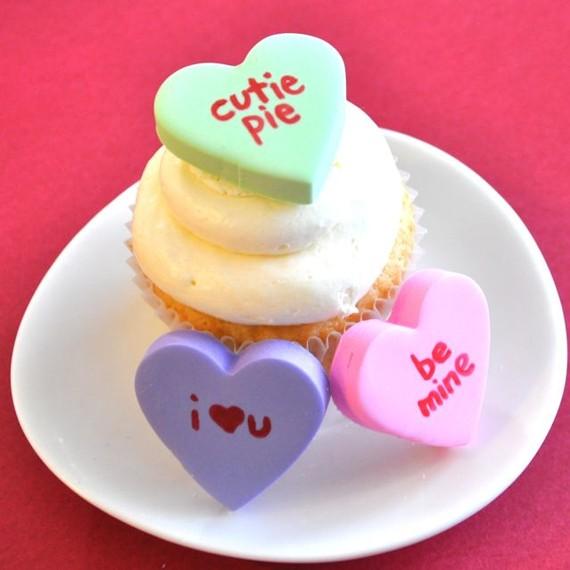 Conversation Hearts Cupcakes Fondant