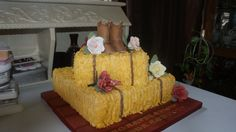 Country Bridal Shower Cake