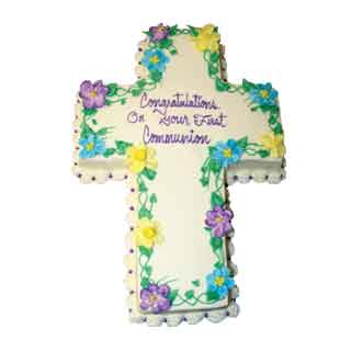 Cross Decorated with Flowers
