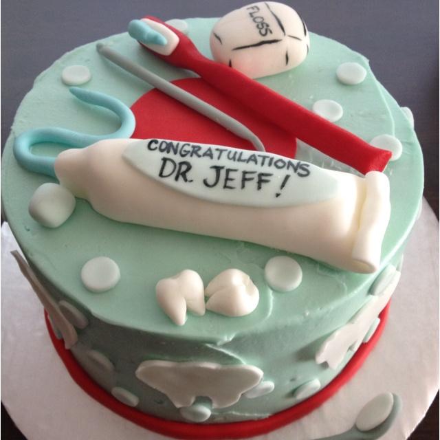 Dental Assistant Graduation Cake