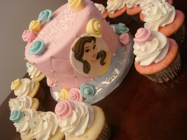 Disney Princess Belle Birthday Cake