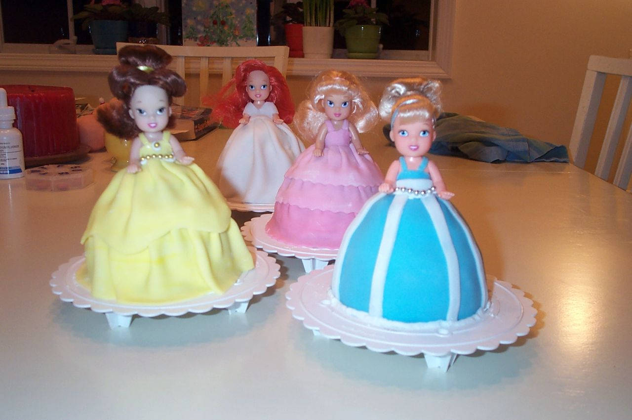 Disney Princess Doll Cake