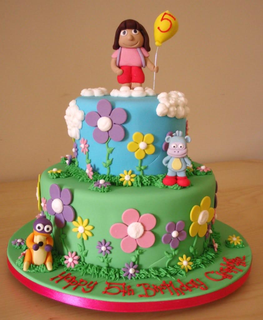 10 Easy Dora The Explorer Cakes Photo Dora Birthday Cake Ideas
