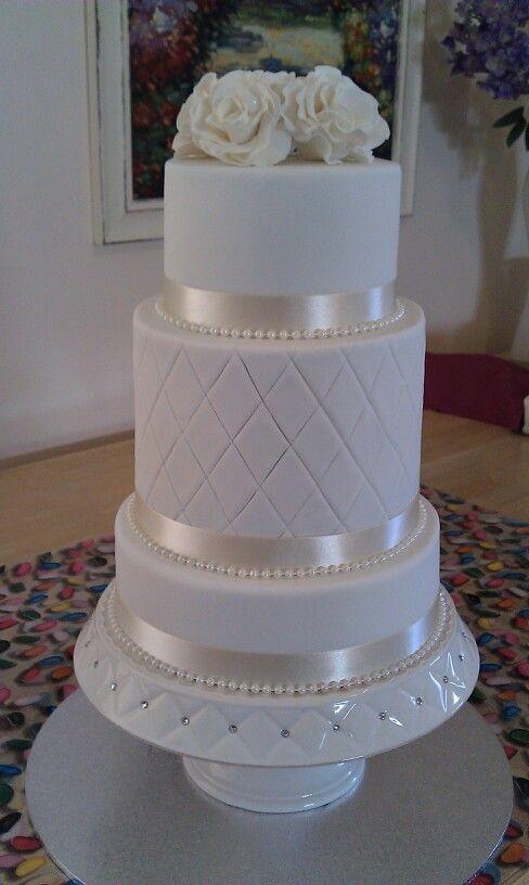 9 Photos of Double Wedding Cakes