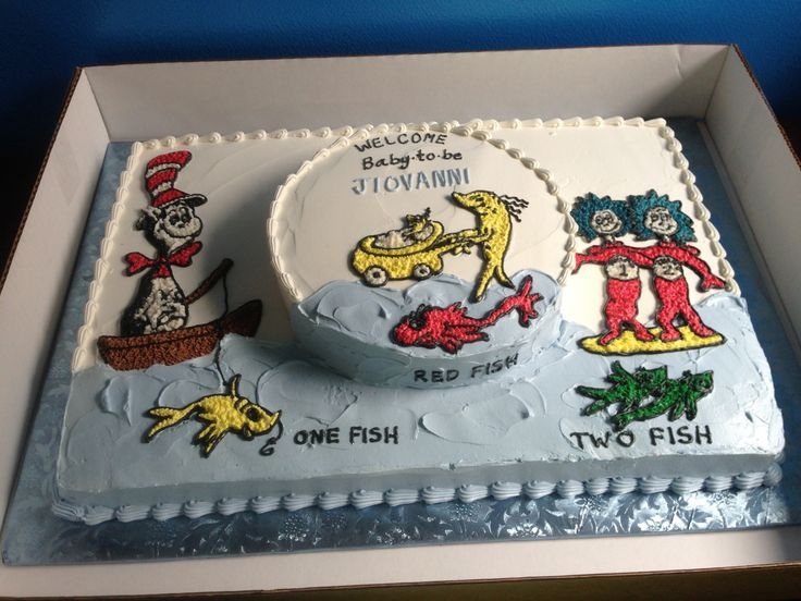 8 Photos of Dr. Seuss Baby Shower Sheet Cakes