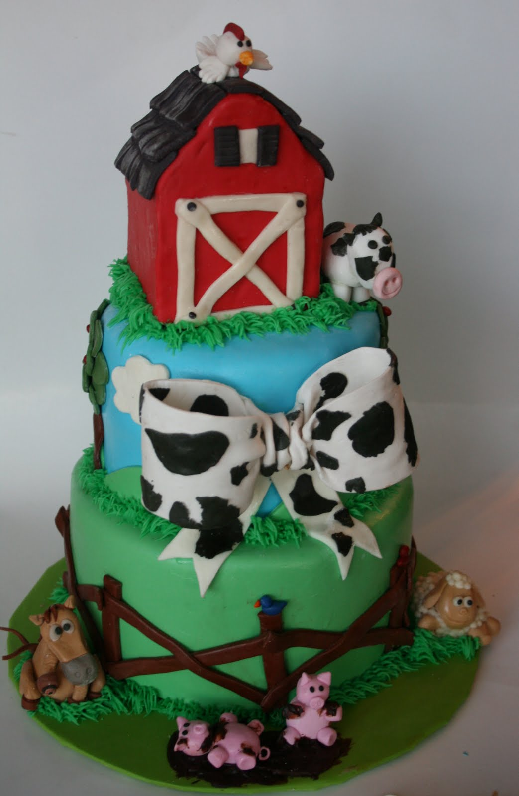 10 Photos of Farm Baby Shower Cakes
