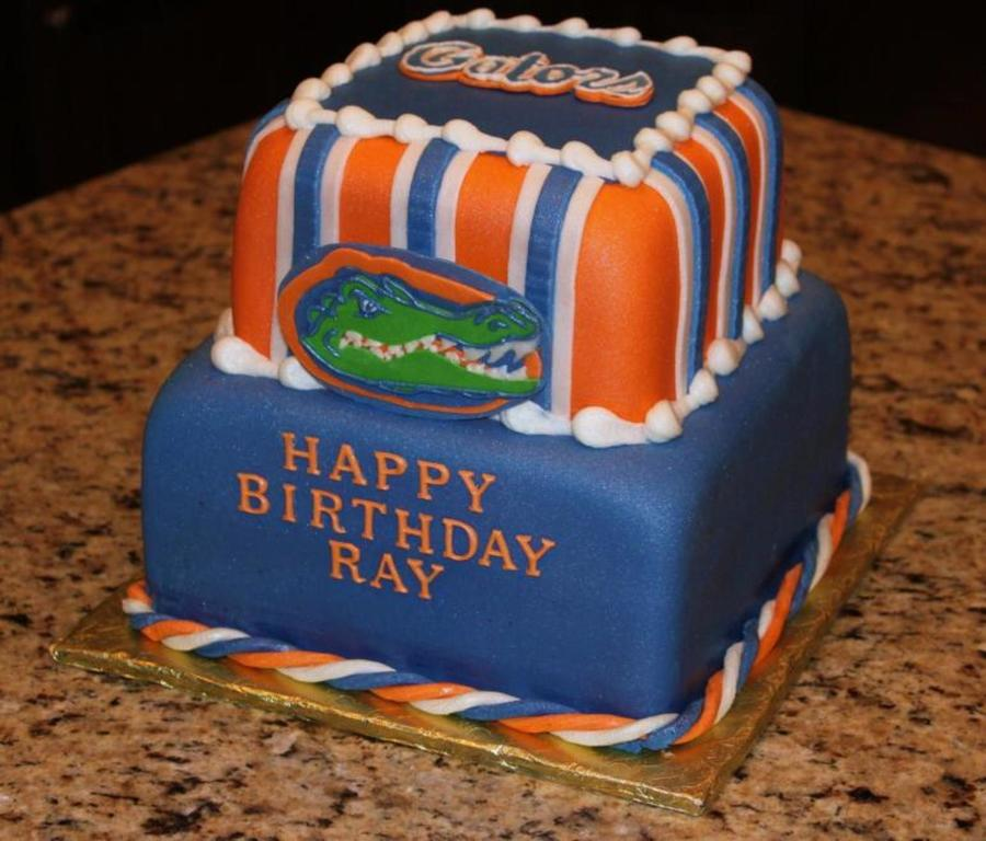 Brilliant 10 Gator Graduation Cakes Photo Florida Gators Birthday Cake Personalised Birthday Cards Veneteletsinfo