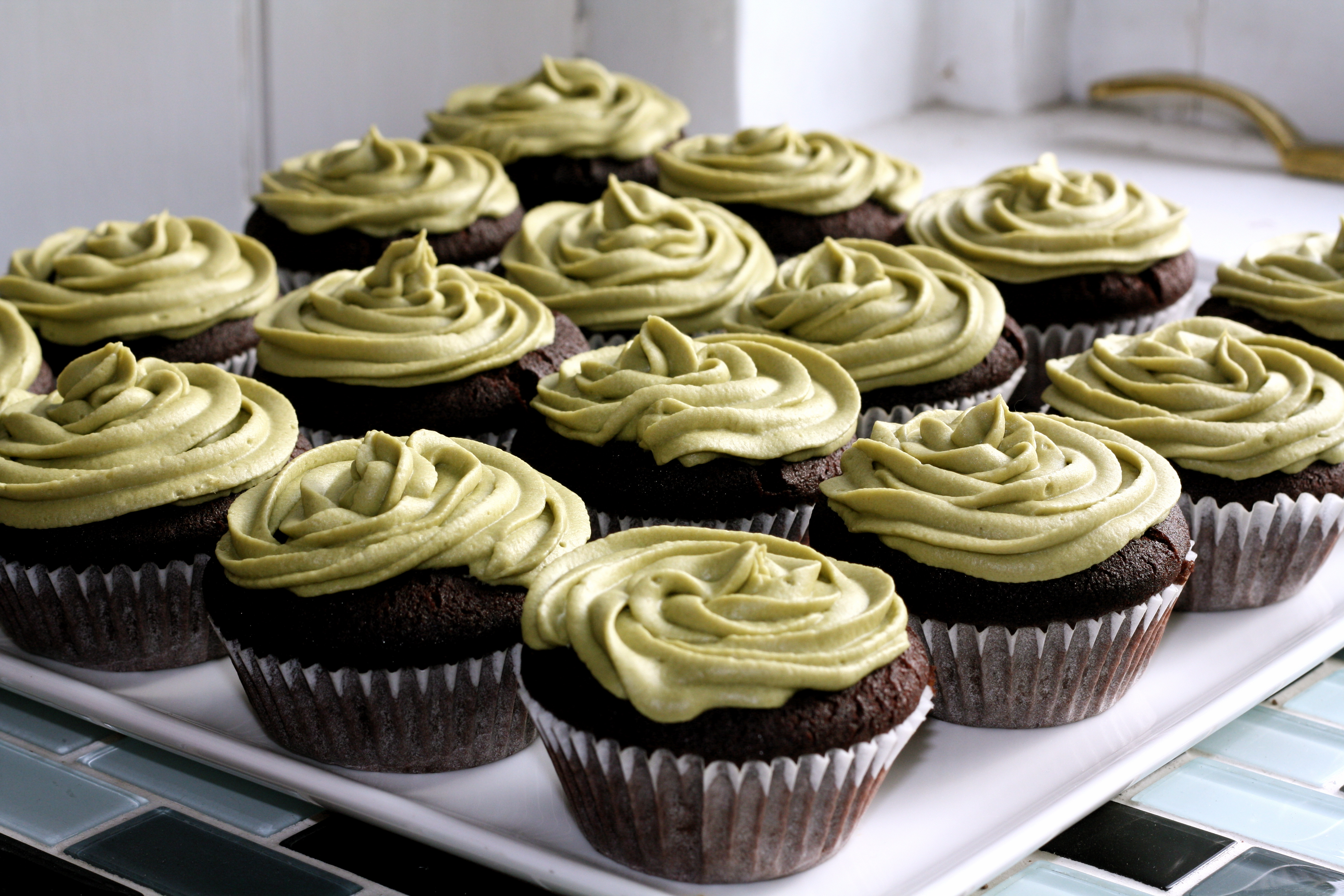 7 Photos of Chocolate Green Tea Cupcakes