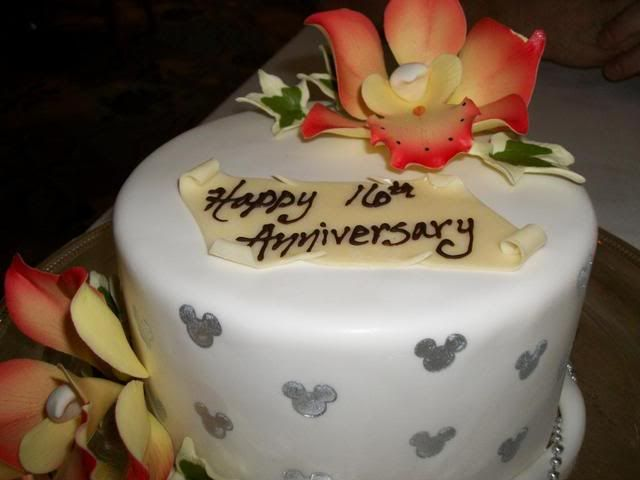 Happy 16th Wedding Anniversary Cake