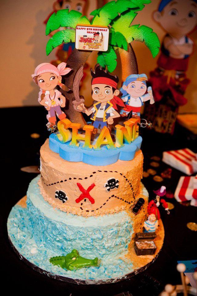 Jake and Neverland Pirates Cake