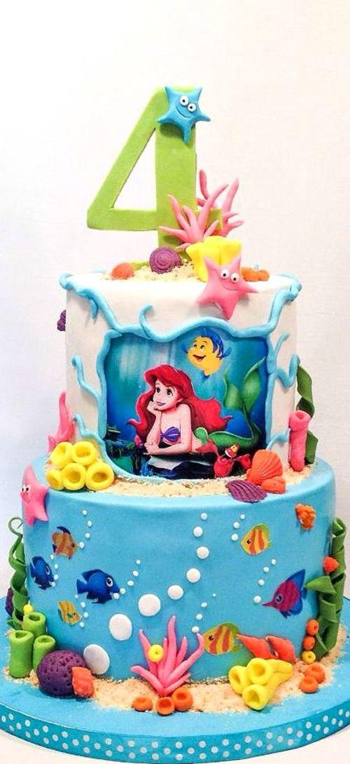 89+ Little Mermaid Birthday Cake Walmart - Mermaid Birthday Cake ...