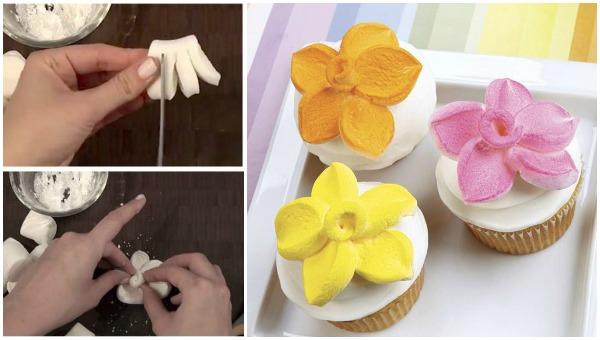 10 Photos of DIY Marshmallow Flower Cupcakes