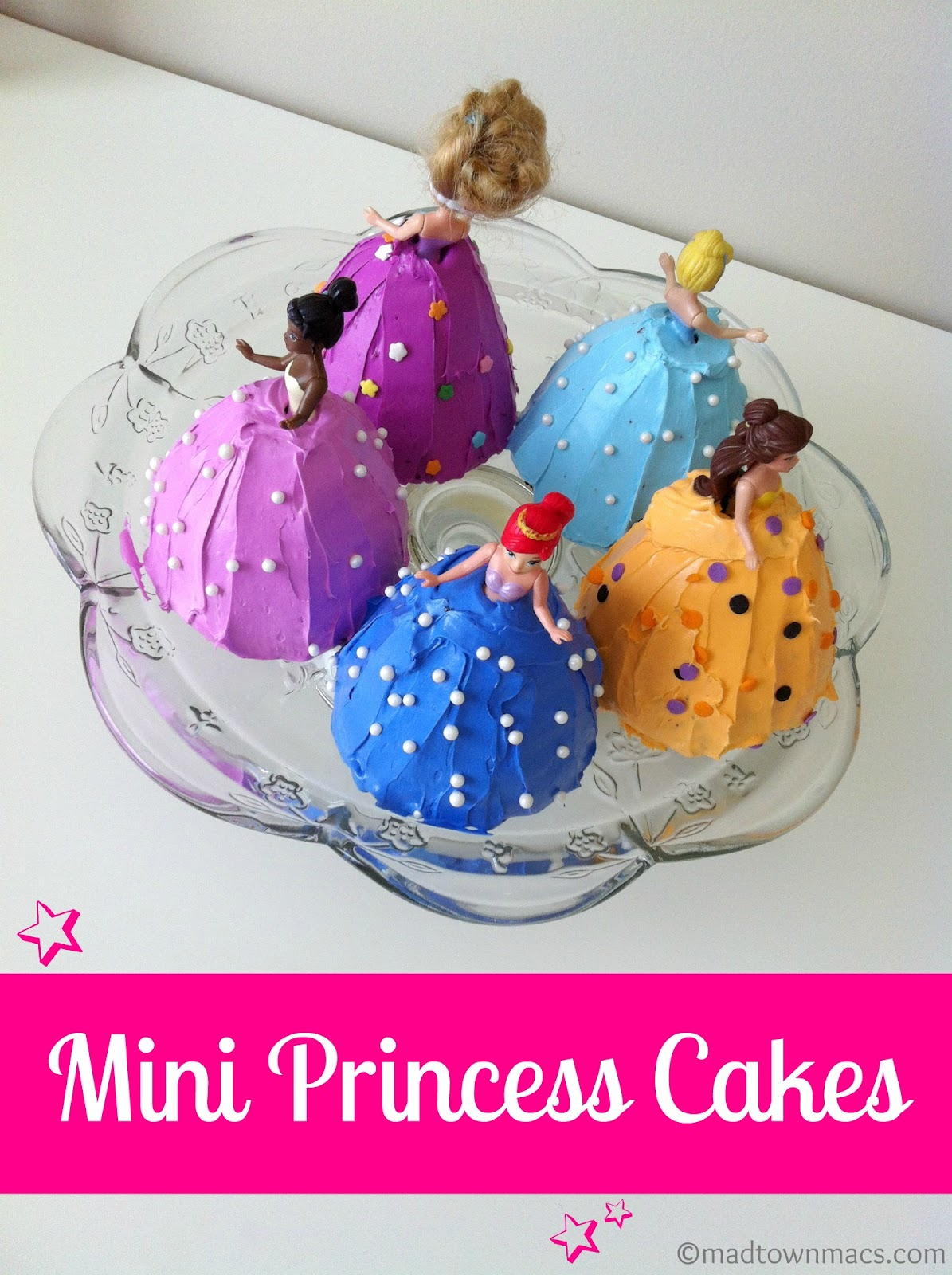 Mini Princess Birthday Cakes