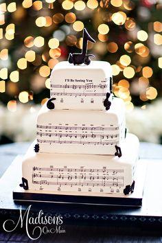 Music Note Wedding Cake