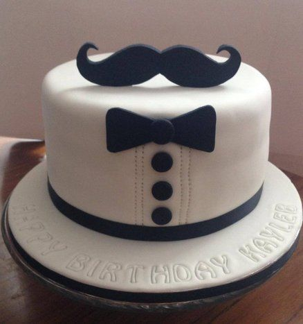 Mustache Birthday Cake Ideas