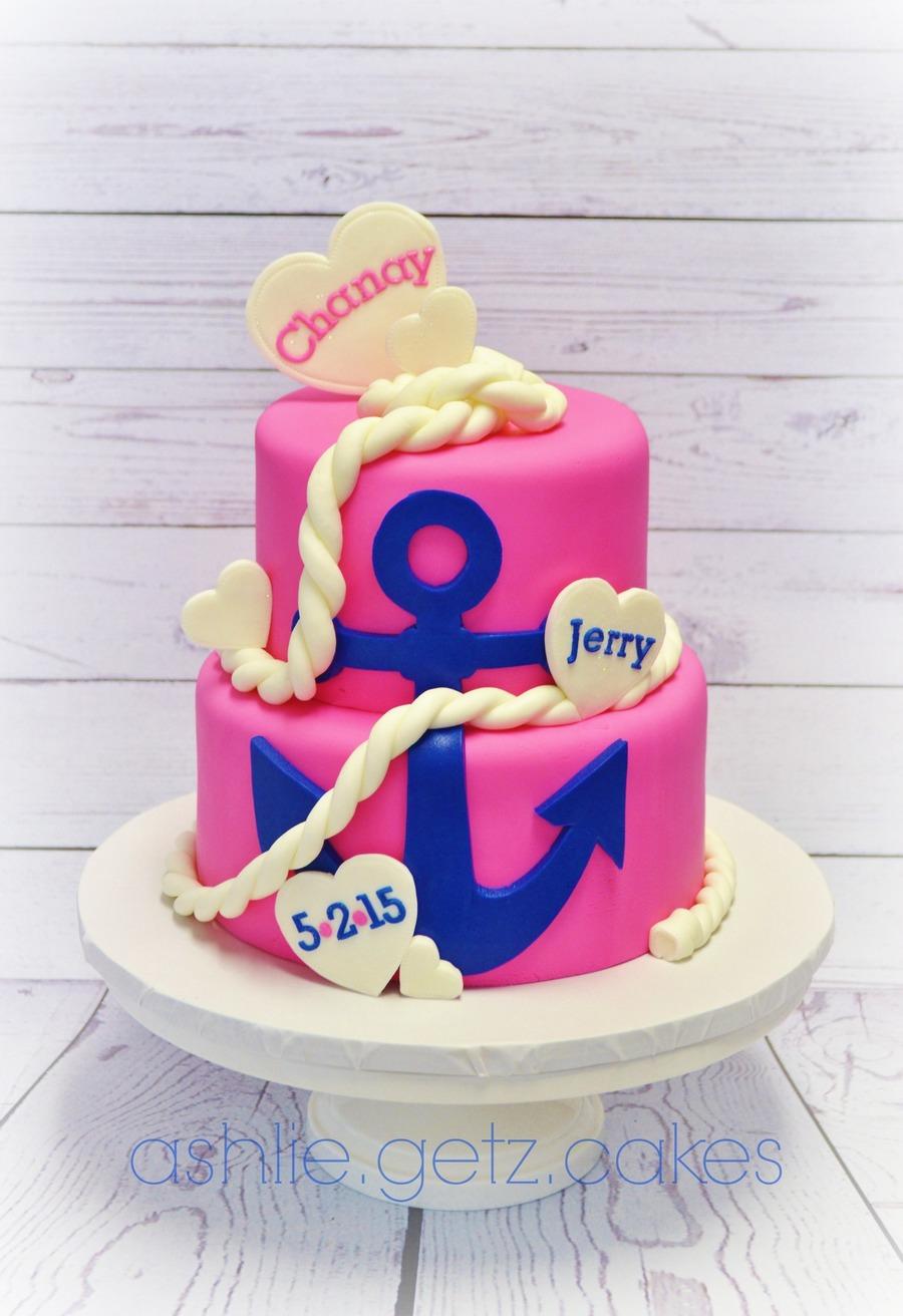 Nautical Bridal Shower Cake