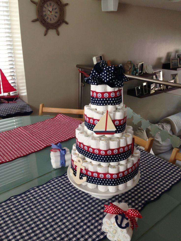 Nautical Diaper Cake DIY