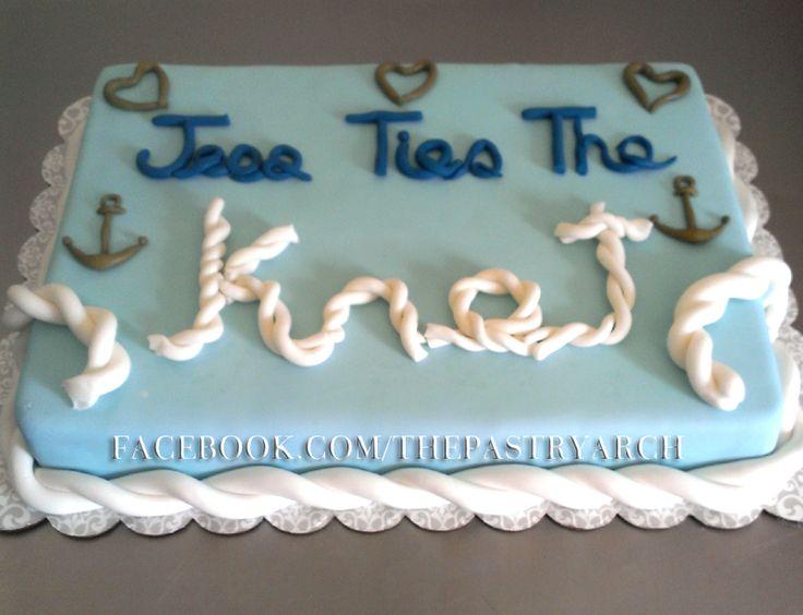 Nautical Themed Bridal Shower Cake