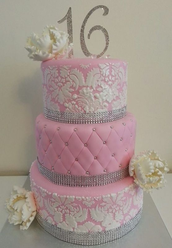 11 Photos of Layered Sweet 16 Birthday Cakes