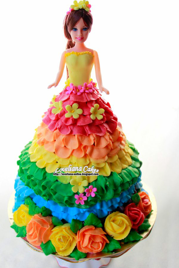 8 Photos of Ereal Doll Birthday Cakes