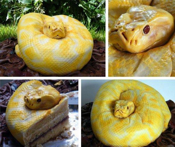 Realistic Snake Cake