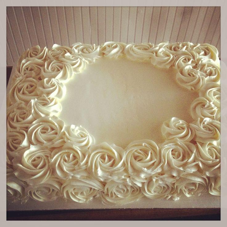 11 Photos of Elegant Sheet Cakes Buttercream