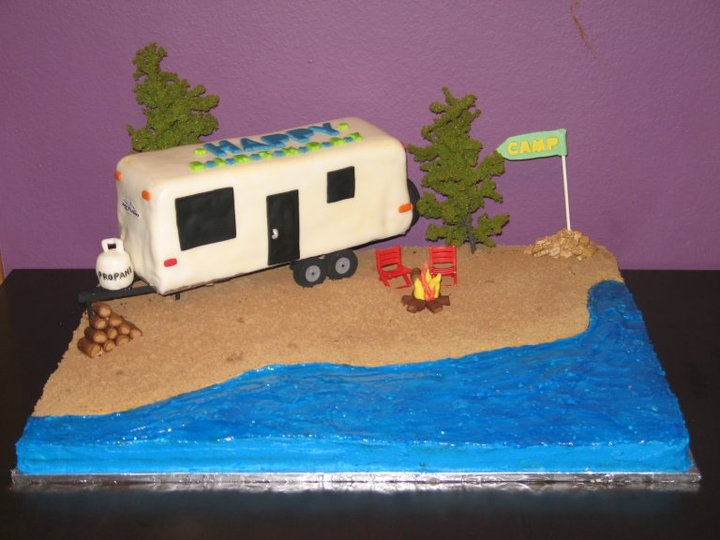 RV Camping Birthday Cake