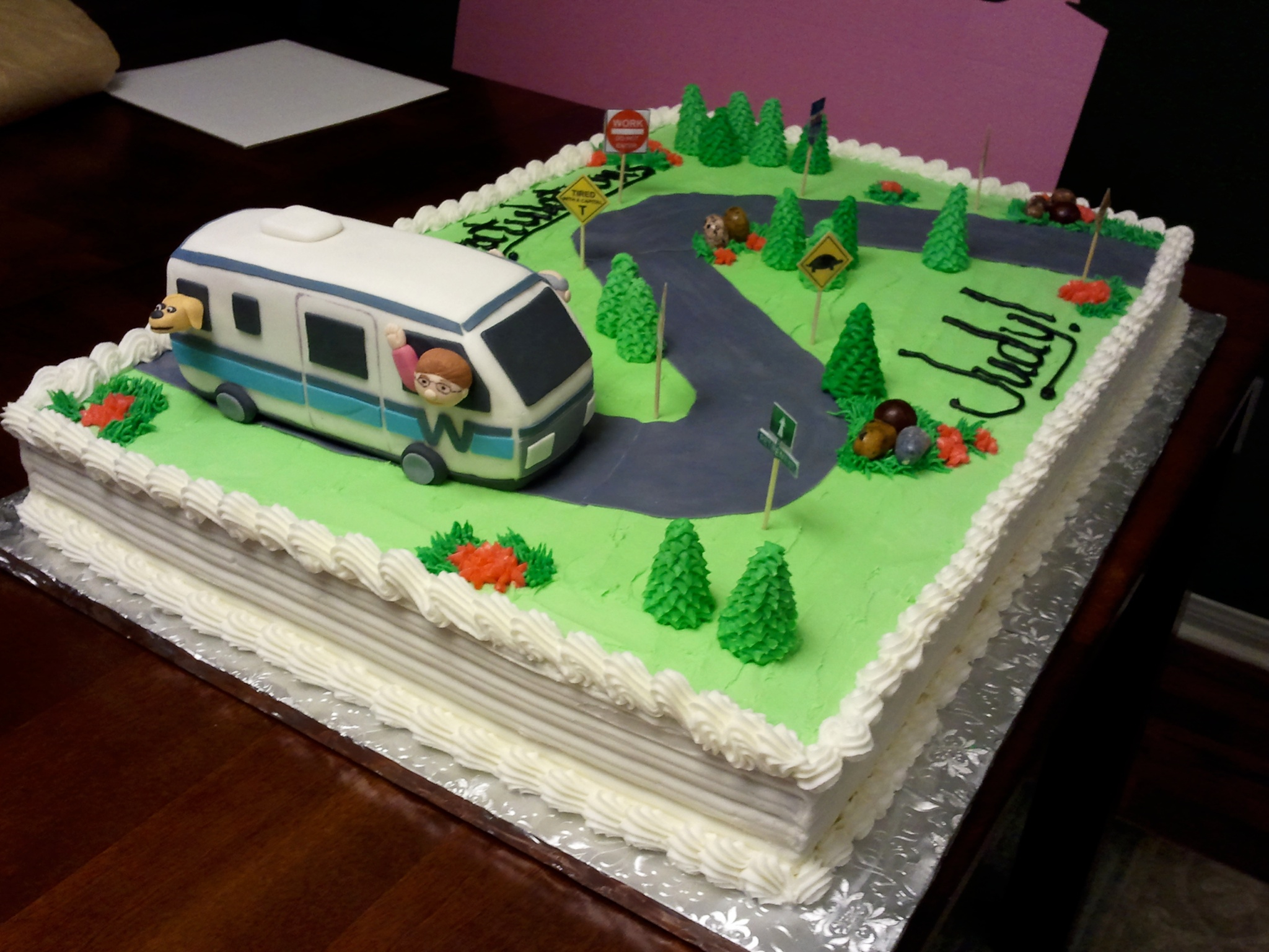 RV Retirement Cake Ideas