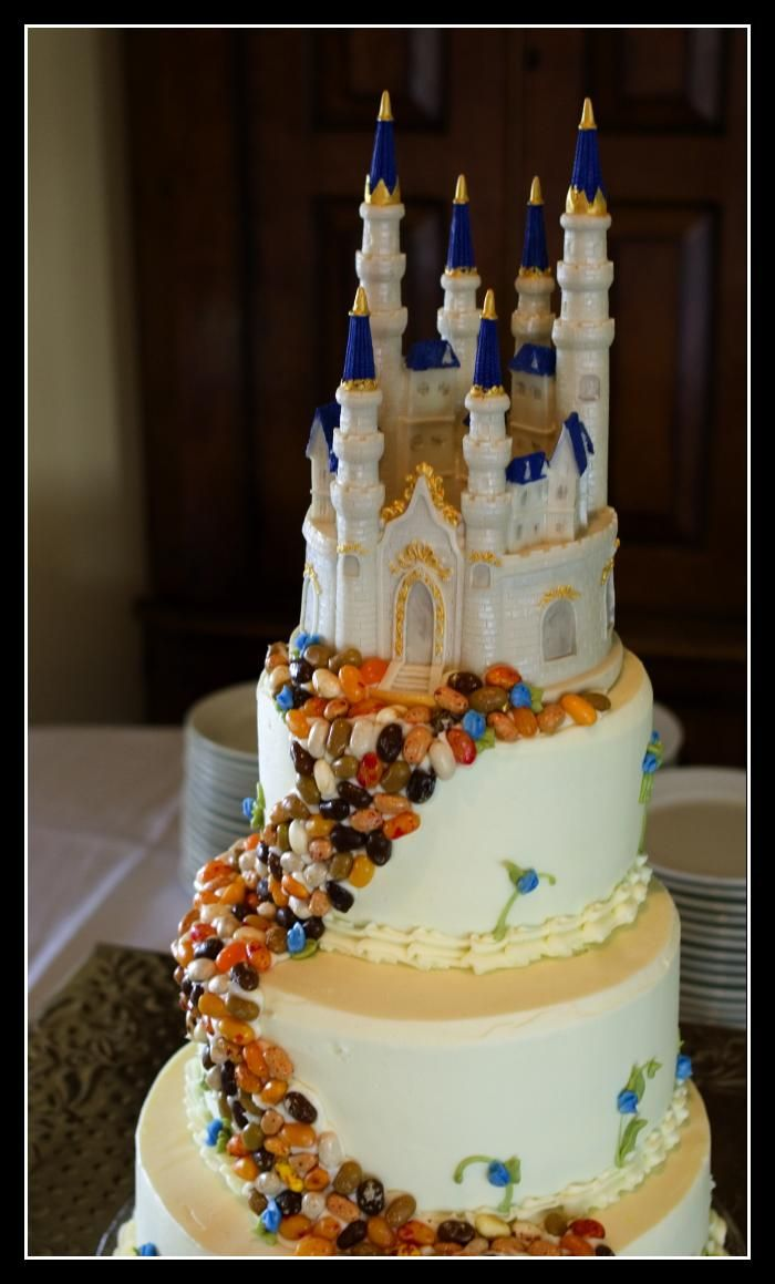 Sleeping Beauty Castle Wedding Cake Topper