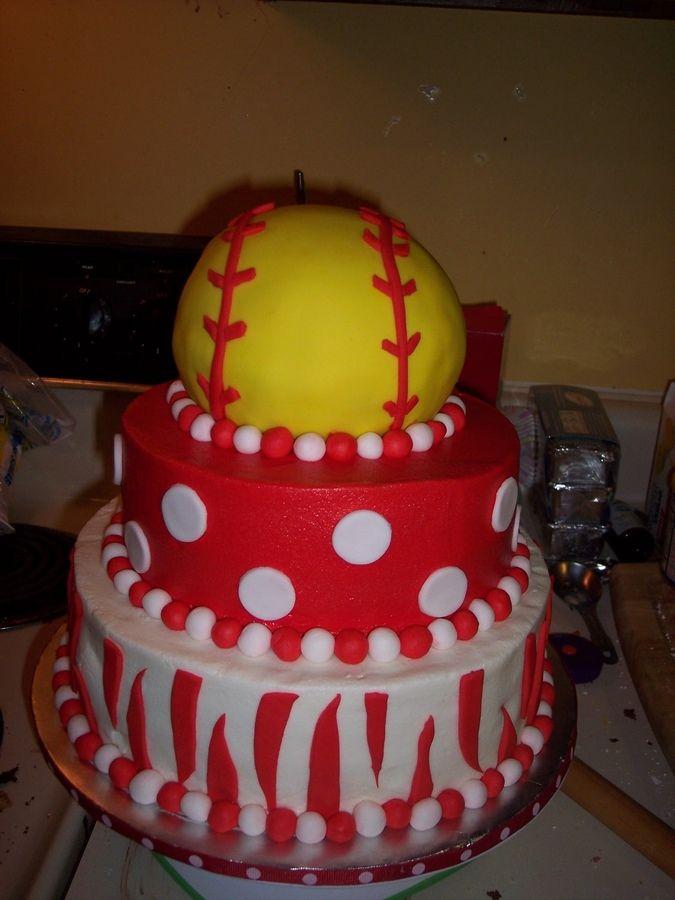 Prime 8 Softball Cakes Girls Fondant Photo Softball Birthday Cake Personalised Birthday Cards Paralily Jamesorg