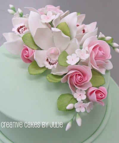 11 Photos of Sugar Flower Sprays For Cakes