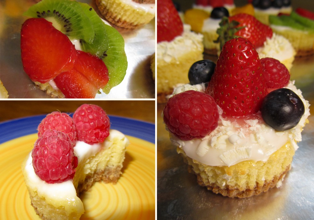 Summer Mini Fruit Cheesecakes