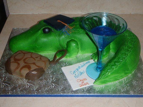 UF Gator Graduation Cake