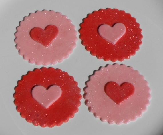 Valentine Cupcake Toppers Fondant