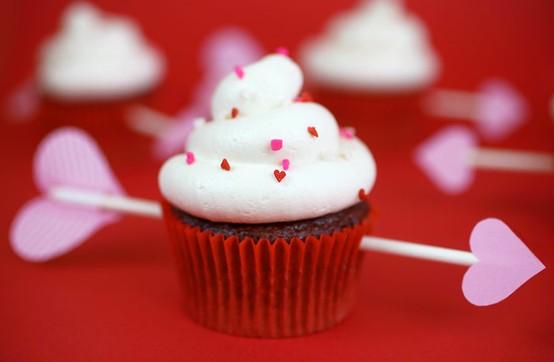 Valentine's Day Red Velvet Cupcakes