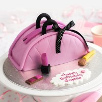 10 Pink Purse Case Cakes Photo
