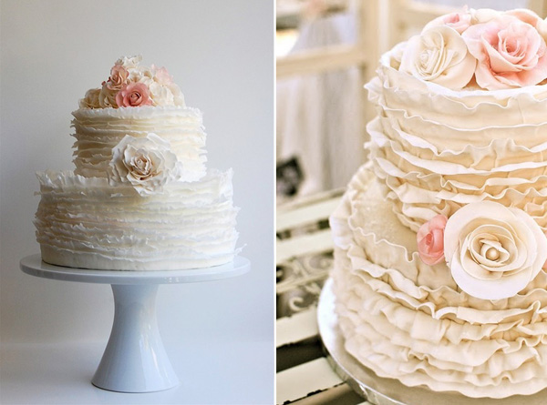 12 Photos of Pinterest Bridal Cakes