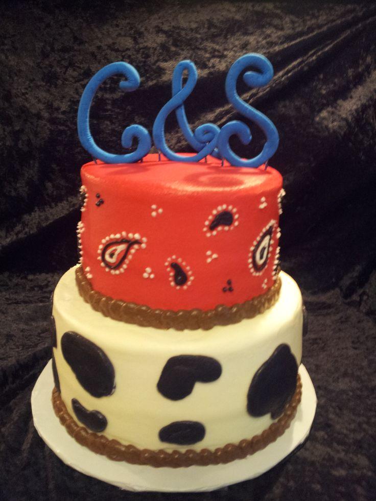 Western Bridal Shower Cake