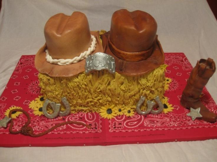 Western Theme Bridal Shower Cake