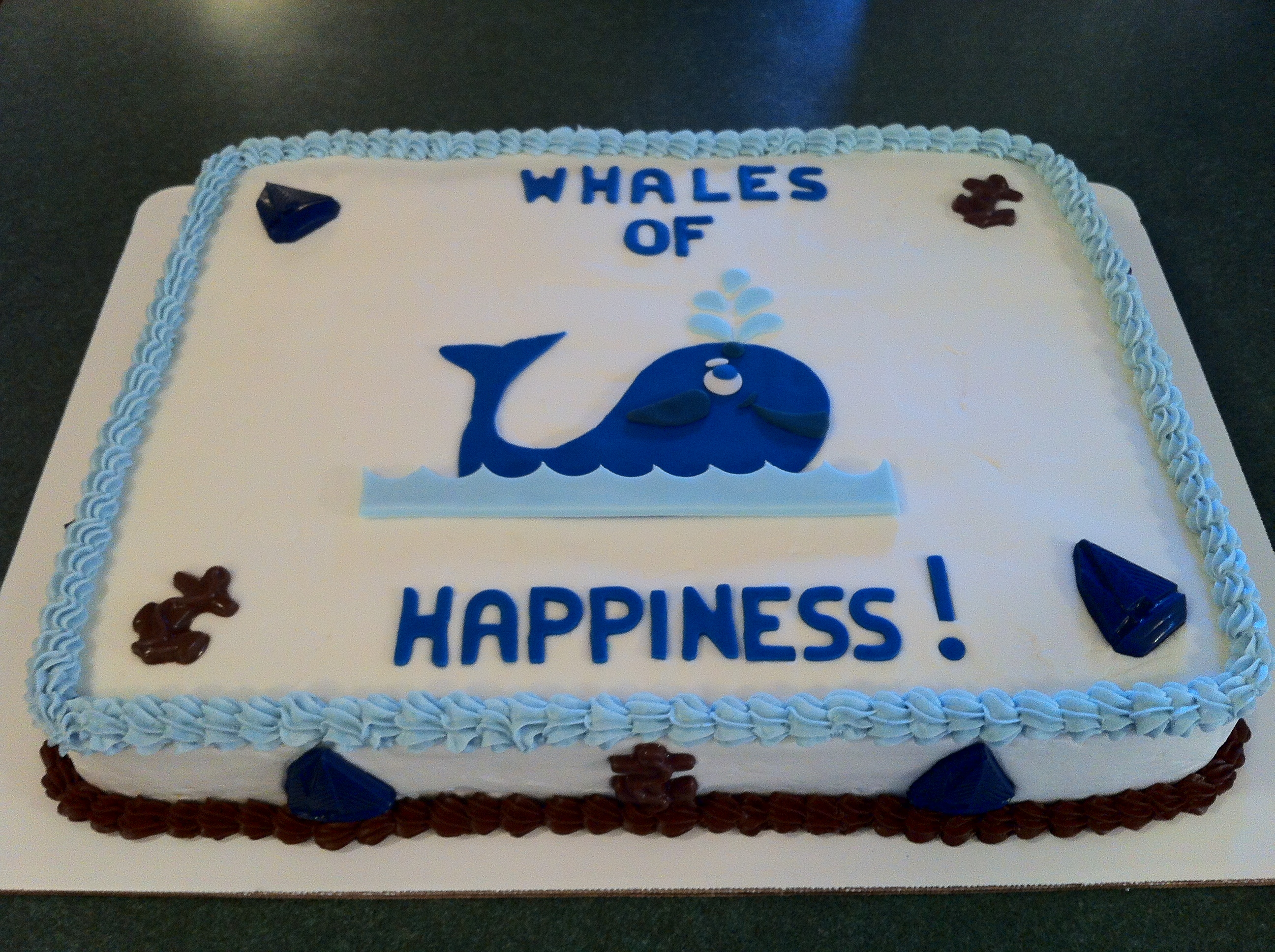 Whale Baby Shower Sheet Cake