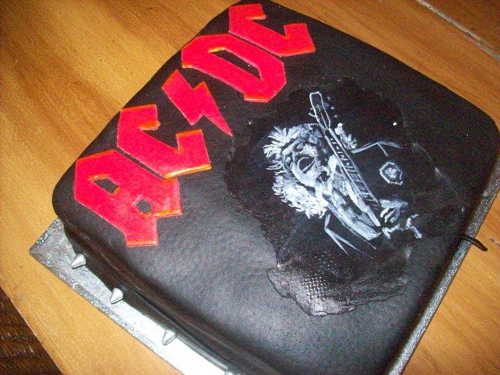 AC DC Happy Birthday Cake