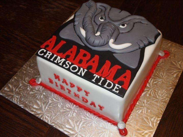 Terrific 11 Crimson Tide Football Cakes Photo Alabama Crimson Tide Personalised Birthday Cards Veneteletsinfo