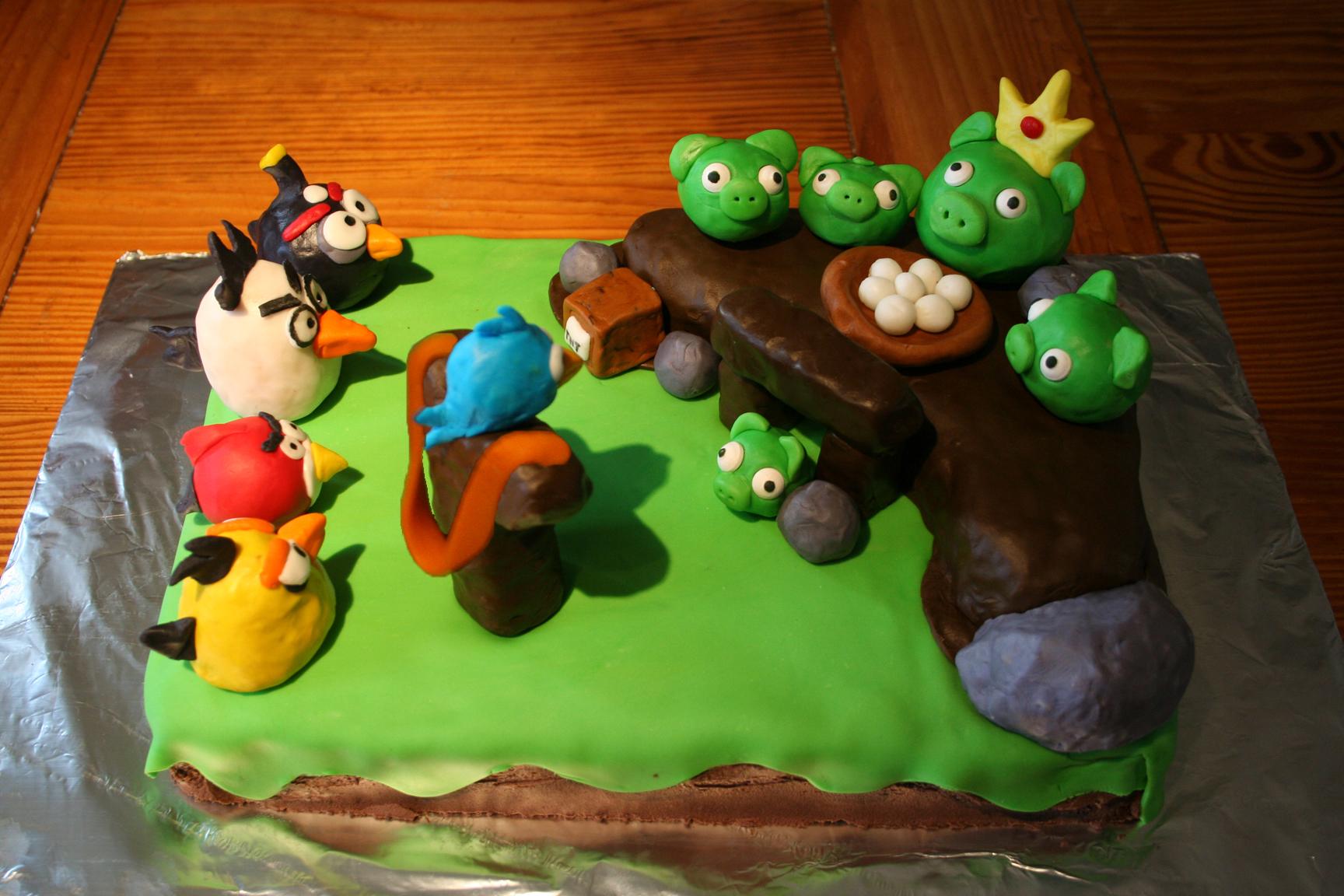 Angry Birds Cake Idea