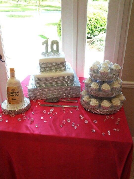 Anniversary Bling Cake
