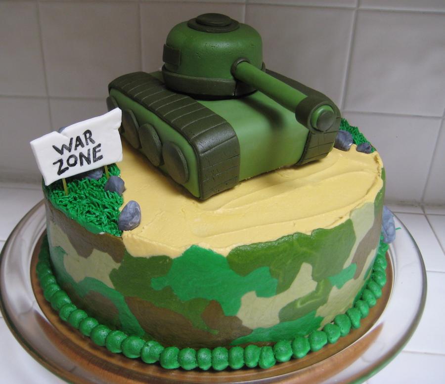 8 Military Camo Cakes Photo Military Birthday Cake Army Tank